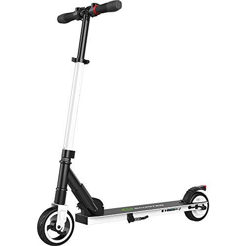 E Scooter Tret-Roller, CityRoller Elektrischer Roller Klappbar mit 12km Langstrecken Akku, bis zu 23km/h, Einfach zu Falten und zu Tragen E-Roller für Erwachsene Jugendliche und Kinder (Weiß)