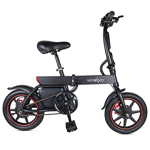 Windgoo Elektrofahrrad B20 36V 6.0AH 350W Schwarz Tragbarer Elektroroller Faltbares E-Bike