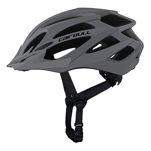 Cairbull Größe M und L Specialized Fahrradhelm MTB Helm Mountainbike Helm Herren & Damen Schwarz mit Rucksack Fahrrad Helm Integral 21 Belüftungskanäle (Grau, M/L (55-61CM))