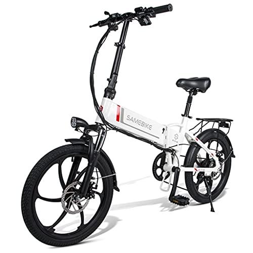 E-Bike Elektrofahrrad Klappbar 20 Zoll, 35KM/H 48V 10.4AH 350W Lithiumbatterie, Shimano 7 Gang Schalthebel, Faltrad für Erwachsene