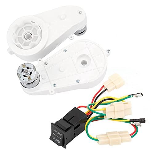Cloudbox Fahrradgetriebe 1 Paar 30000RPM Motorgetriebe für Kinder Kinder Elektrofahrrad mit Motorleitung 12V