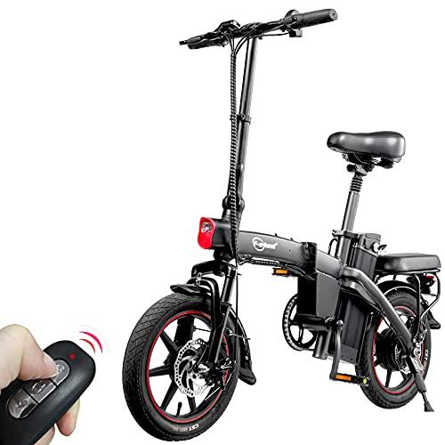 F-wheel A5 E-Bike Elektrofahrräder - 14' Klappbares E-Bike,350W Motor 25KM/H 48V 7,5Ah Batterie TRIP 35-50KM Fernstart Komfortable Stoßdämpfung Stadt Pendeln mit Kilometerzähler EBike für Erwachsene