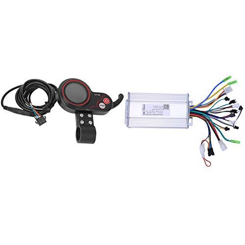 LCD Thumb Shifter Controller, Controller Elektroroller Controller Automatisch Wasserdicht 36V 500W 2 in 1 für Elektrofahrrad