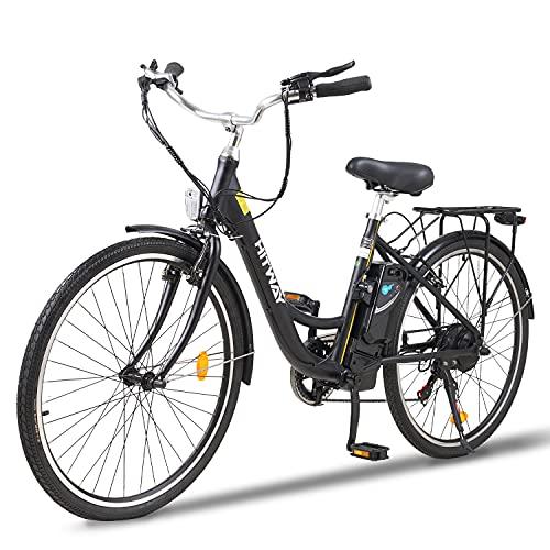 HITWAY 26 Zoll Elektrofahrrad City E-Bike mit 250W Motor 7-Gang-Getriebe, Pedelec Elektrofahrräde mit 36V 10.4AH Abnehmbarer Lithium Akku 50km