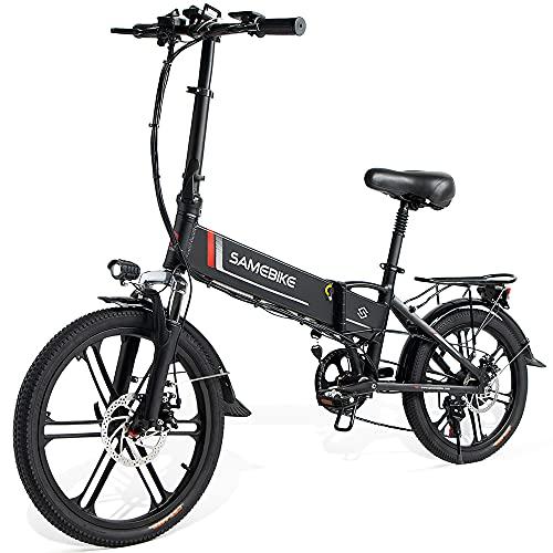 Antrect E-Bike Upgrade Elektrofahrrad Klappbar 20 Zoll, 48V 10.4AH 350W Lithiumbatterie, Shimano 7 Gang Schalthebel mit Handyhalter, Faltrad Elektrofahrrad für Erwachsene