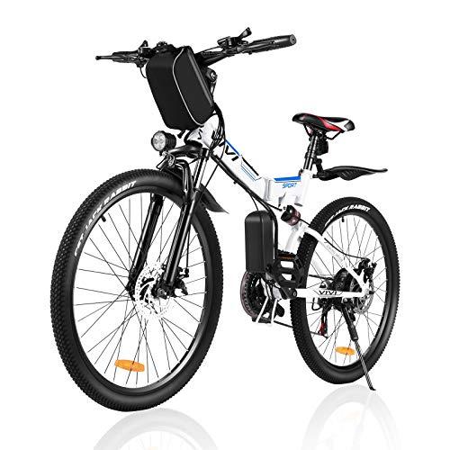 VIVI Ebike Mountainbike 26 Zoll Elektrofahrrad Klappbar Für Herren und Damen,350W Ebike Shimano 21-Gang Elektrisches Fahrrad mit Abnehmbare 8Ah 36V Lithium-Ionen Batterie