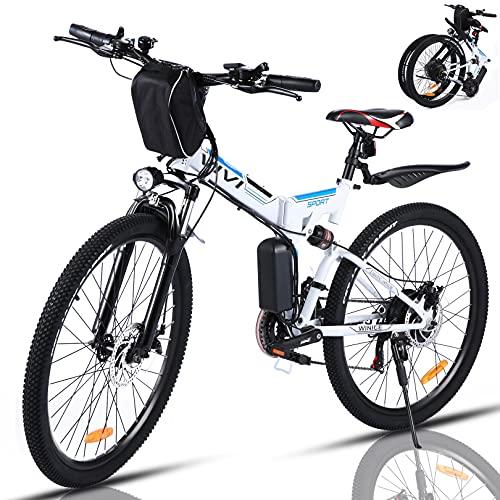 VIVI 350W Elektrofahrrad Herren 26 Zoll Faltbares E Bike Mountainbike, Elektrofahrrad Klappbar Abnehmbare 36V/8Ah Batterie /21-Gang/Höchstgeschwindigkeit 32km/h/Die Reichweite beträgt 40 km