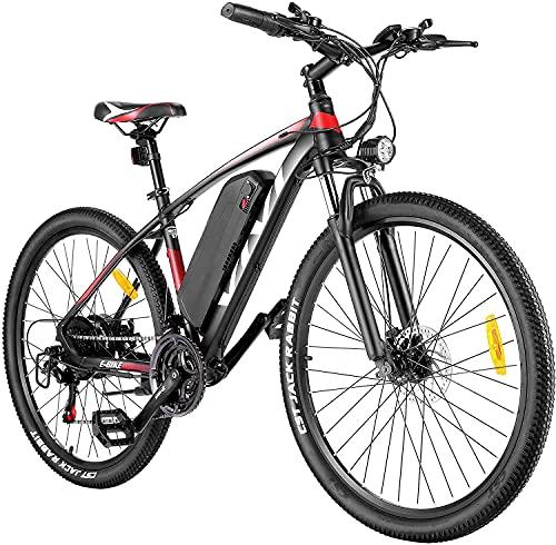 VIVI Ebike Mountainbike, 26'/27,5' Elektrofahrrad Pedelec, 350W E-Bike Herren und Damen mit Abnehmbarer 10,4 Ah Lithium-Ionen-Batterie, 21-Gang-Getriebe