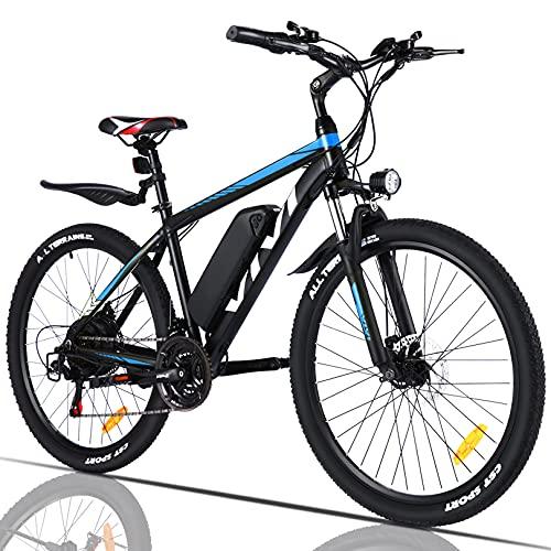 VIVI Elektrofahrrad Herren 26' Mountainbike mit Herausnehmbarer 36V 10.4Ah Batterie /21-Gang-Getriebe/E-Mountainbike