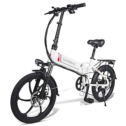 MOVIGOR Elektrofahrräder 350W 20' Aluminiumlegierung elektrisches Fahrrad für Erwachsene, klappbares Elektroroller Elektrofahrrad 7-Gang-E-Bike mit Abnehmbarer 48V 10,4A-Lithiumbatterie